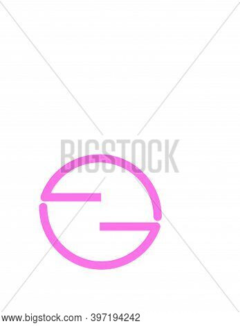 Gg, Eg, Ggo, Gog, Ego, Gng, Ghg , Eoe Initials Geometric Logo And Vector Icon