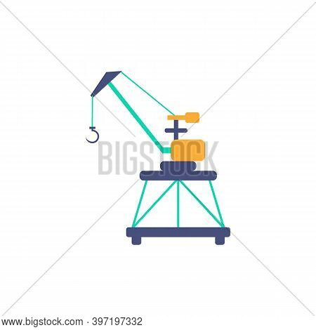 Port Loading Crane Icon. Simple Element From Port Collection. Creative Port Loading Crane Icon For W