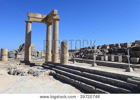 Hellenistic Stoa And Staircase