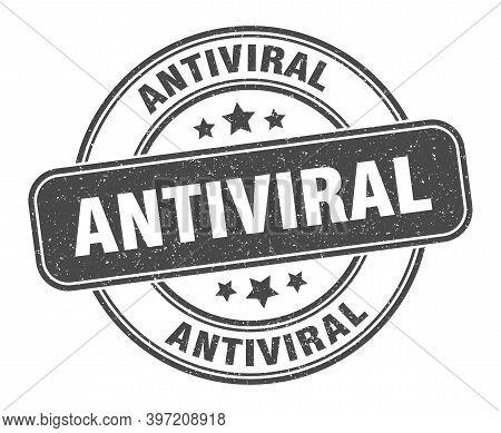 Antiviral Stamp. Antiviral Label. Round Grunge Sign