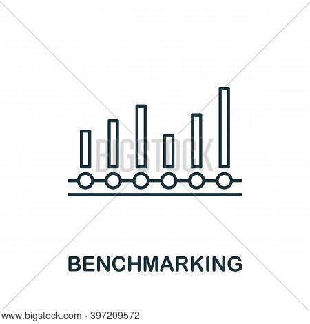 Benchmarking Icon. Line Style Element From Business Intelligence Collection. Thin Benchmarking Icon