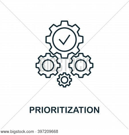 Prioritization Icon. Line Style Element From Business Intelligence Collection. Thin Prioritization I