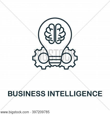 Business Intelligence Icon. Line Style Element From Business Intelligence Collection. Thin Business