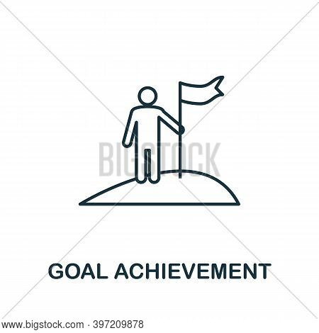 Goal Achievement Icon. Simple Element From Business Technology Collection. Filled Goal Achievement I