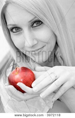 Girl With An Apple