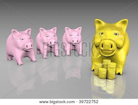 Envied Golden Piggy