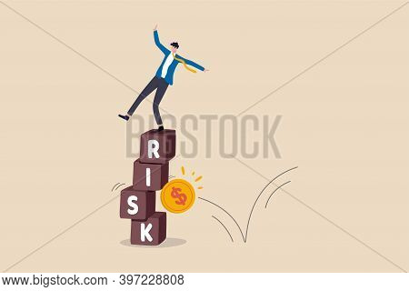 Investment Risk, Volatility And Fluctuation In Stock Market That Price Will Drop, Stability And Unce
