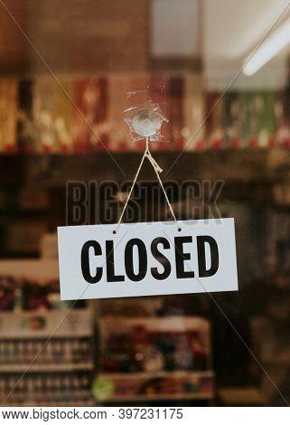 Store closed during coronavirus pandemic. BRISTOL, UK, March 30, 2020