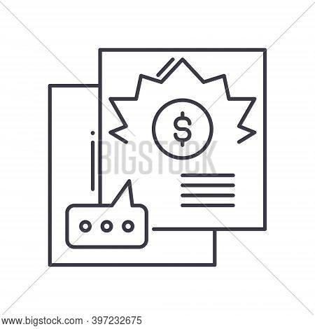 Handout Icon, Linear Isolated Illustration, Thin Line Vector, Web Design Sign, Outline Concept Symbo