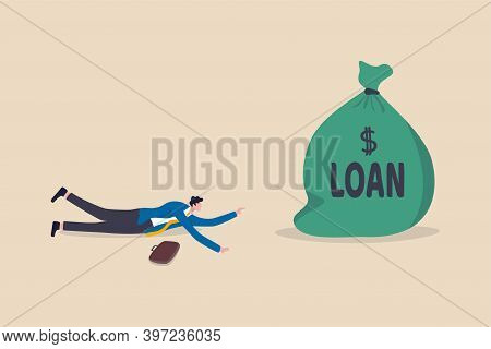 Entrepreneur Soft Loan To Continue Business In Economic Crisis Impact By Covid-19 Pandemic Concept,