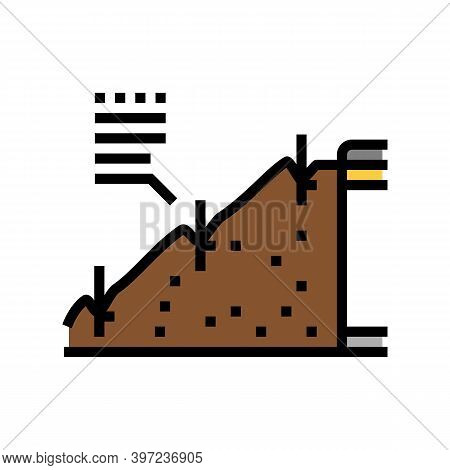 Strengthening Of Road Slopes Color Icon Vector. Strengthening Of Road Slopes Sign. Isolated Symbol I