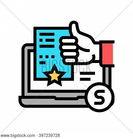 Incident Repair Service Review Color Icon Vector. Incident Repair Service Review Sign. Isolated Symb