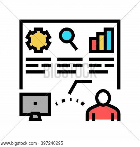 Report Of Incident Color Icon Vector. Report Of Incident Sign. Isolated Symbol Illustration