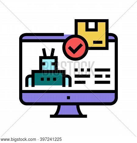 Automatical Order Acceptance Color Icon Vector. Automatical Order Acceptance Sign. Isolated Symbol I