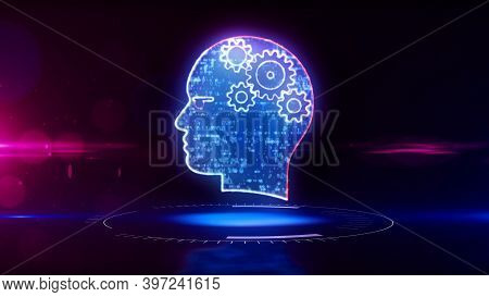 Artificial Intelligence Abstract 3D Illustration