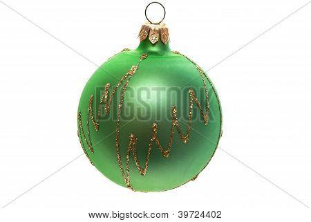 Green Christmas Ball.