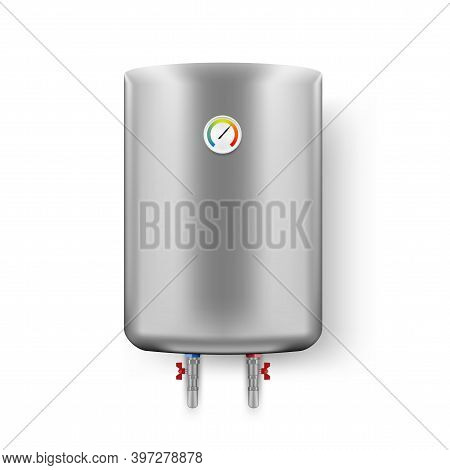 3d Water Heater Boiler On White Wall