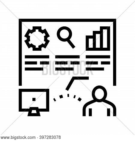 Report Of Incident Line Icon Vector. Report Of Incident Sign. Isolated Contour Symbol Black Illustra