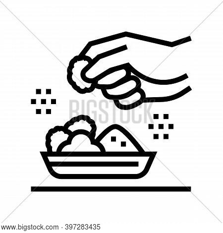 Flavoring Meal Line Icon Vector. Flavoring Meal Sign. Isolated Contour Symbol Black Illustration