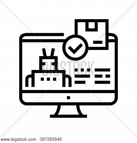 Automatical Order Acceptance Line Icon Vector. Automatical Order Acceptance Sign. Isolated Contour S