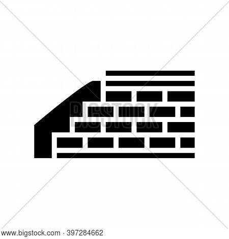 Embankment Construction Glyph Icon Vector. Embankment Construction Sign. Isolated Contour Symbol Bla