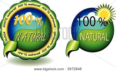 100 % Natural Seals Vector