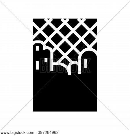 Concrete Layer Road Glyph Icon Vector. Concrete Layer Road Sign. Isolated Contour Symbol Black Illus