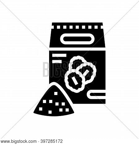 Flour Oat Bag Glyph Icon Vector. Flour Oat Bag Sign. Isolated Contour Symbol Black Illustration