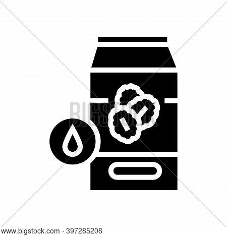 Milk Oat Package Glyph Icon Vector. Milk Oat Package Sign. Isolated Contour Symbol Black Illustratio