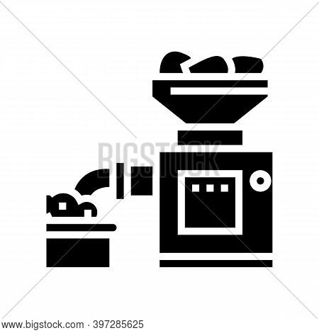 Grinding Meat Device Glyph Icon Vector. Grinding Meat Device Sign. Isolated Contour Symbol Black Ill