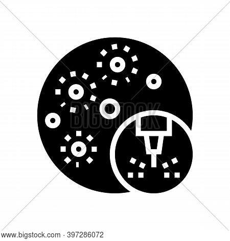 Acne Treatment Laser Glyph Icon Vector. Acne Treatment Laser Sign. Isolated Contour Symbol Black Ill