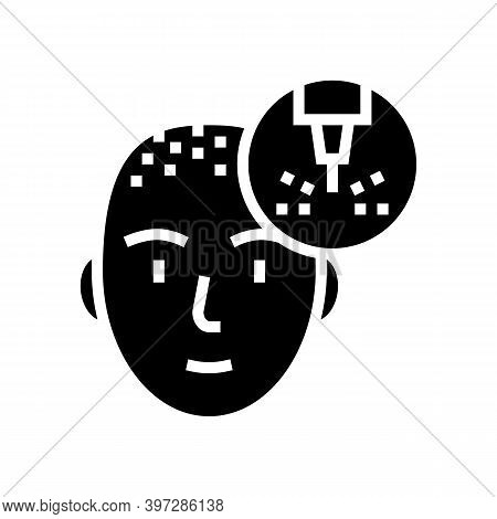 Hair Extension Laser Glyph Icon Vector. Hair Extension Laser Sign. Isolated Contour Symbol Black Ill