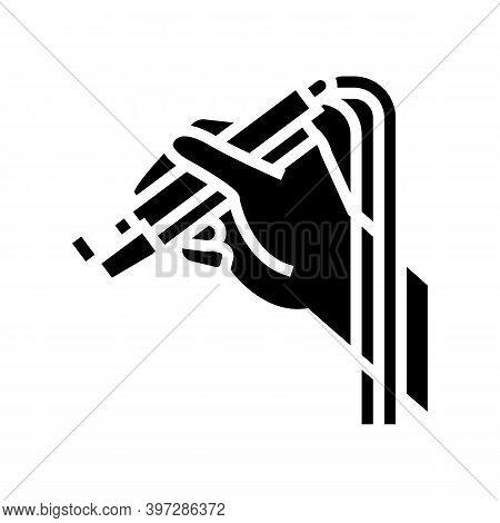 Dye Laser Glyph Icon Vector. Dye Laser Sign. Isolated Contour Symbol Black Illustration