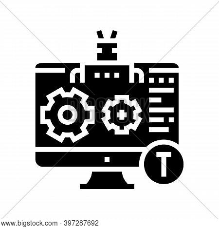 Automatical Repair Incident Glyph Icon Vector. Automatical Repair Incident Sign. Isolated Contour Sy