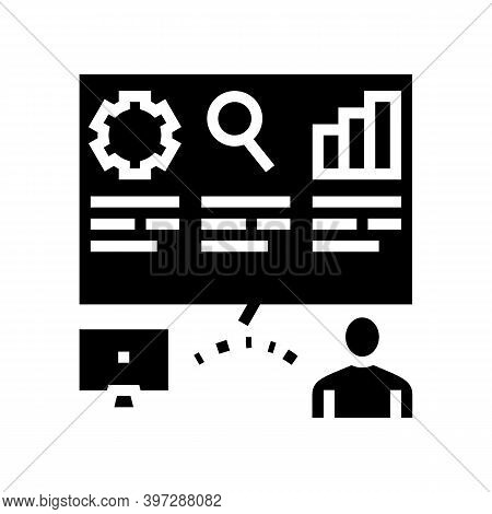 Report Of Incident Glyph Icon Vector. Report Of Incident Sign. Isolated Contour Symbol Black Illustr