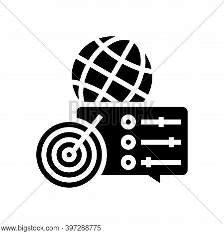 Optimization Of Supply Chains Glyph Icon Vector. Optimization Of Supply Chains Sign. Isolated Contou