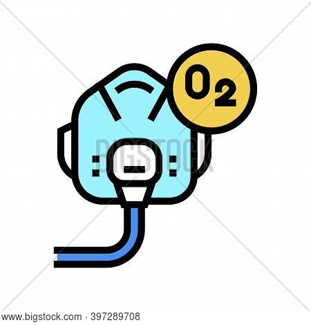 Pilot Oxygen Facial Mask Color Icon Vector. Pilot Oxygen Facial Mask Sign. Isolated Symbol Illustrat