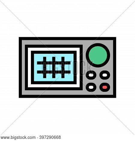 Navigation System Color Icon Vector. Navigation System Sign. Isolated Symbol Illustration