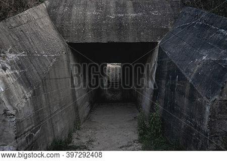 De Punt, German Bunkers In Ouddorp The Netherlands.