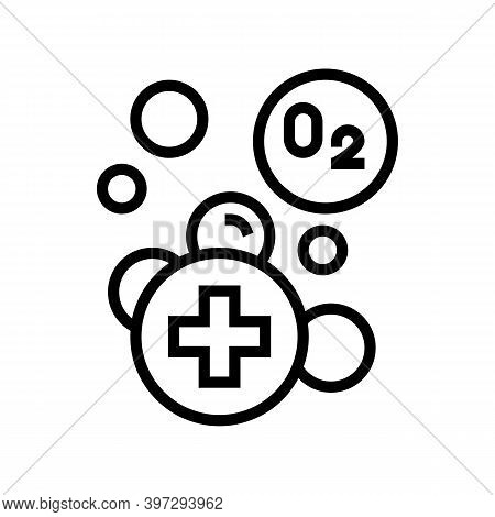 Water Adding Oxygen Line Icon Vector. Water Adding Oxygen Sign. Isolated Contour Symbol Black Illust