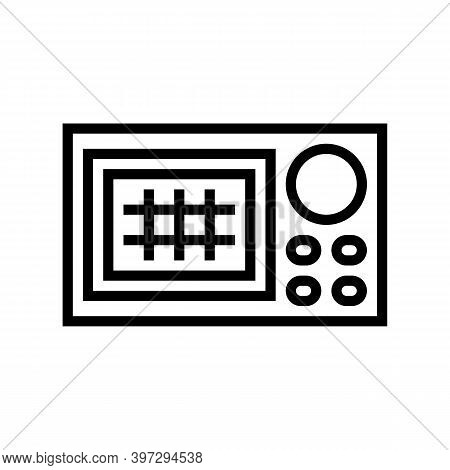 Navigation System Line Icon Vector. Navigation System Sign. Isolated Contour Symbol Black Illustrati