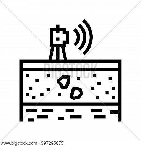 Geodetic Equipment Line Icon Vector. Geodetic Equipment Sign. Isolated Contour Symbol Black Illustra