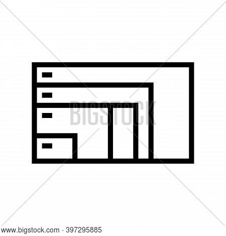 Different Resolution And Diagonal Computer Monitor Line Icon Vector. Different Resolution And Diagon