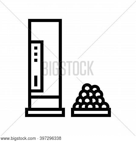 Shotgun Cartridge Line Icon Vector. Shotgun Cartridge Sign. Isolated Contour Symbol Black Illustrati