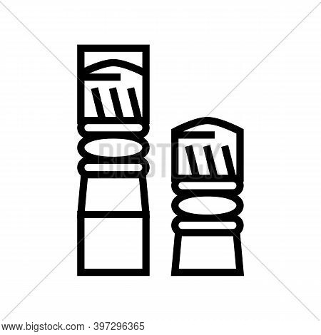 Bullets For Pneumatic Weapon Line Icon Vector. Bullets For Pneumatic Weapon Sign. Isolated Contour S