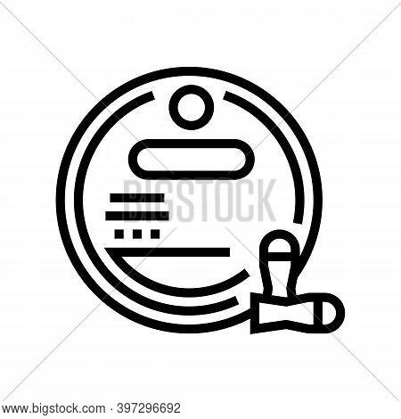 Bullet Magazine Line Icon Vector. Bullet Magazine Sign. Isolated Contour Symbol Black Illustration