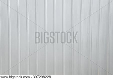 New Corrugated Metal Or Zinc Texture Background. Zinc Wall Background . Sheet Metal With Little Ligh