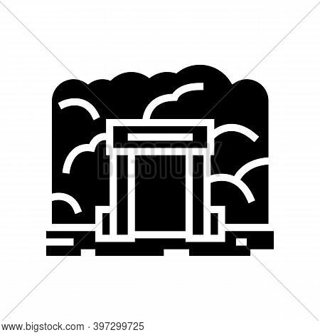 Mine Entry Glyph Icon Vector. Mine Entry Sign. Isolated Contour Symbol Black Illustration