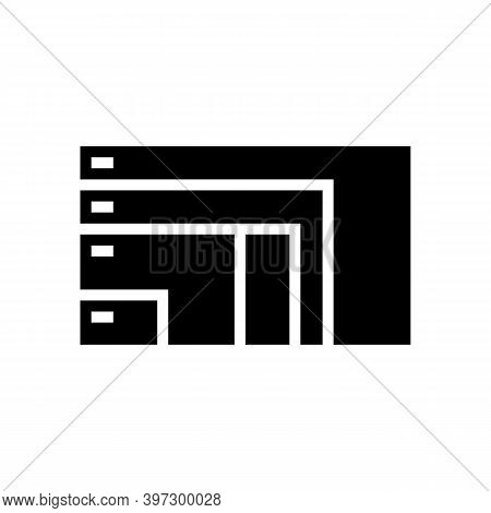 Different Resolution And Diagonal Computer Monitor Glyph Icon Vector. Different Resolution And Diago