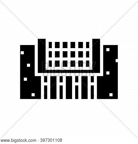 Footing Reinforcement Glyph Icon Vector. Footing Reinforcement Sign. Isolated Contour Symbol Black I